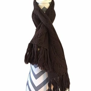 FREE IN BUNDLE Brown Knit Scarf